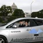 安倍総理がリーフの自動運転車に試乗 日本技術をアピール した